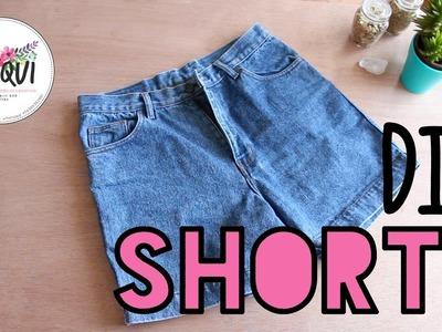 DIY shorts con jeans viejos - tutorial shorts