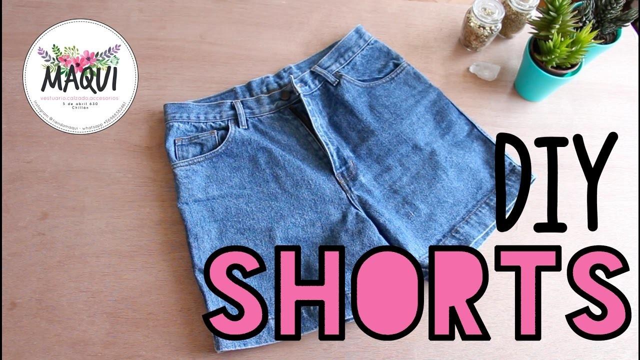 a2524b3513 DIY shorts con jeans viejos - tutorial shorts