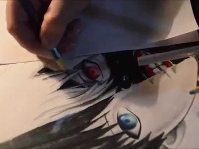Drawing. Kaneki Ken. Tokyo Ghoul