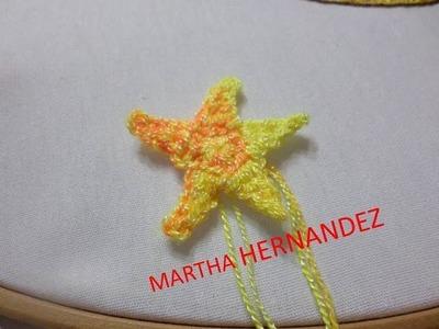 Estrella Tejida de 5 Picos