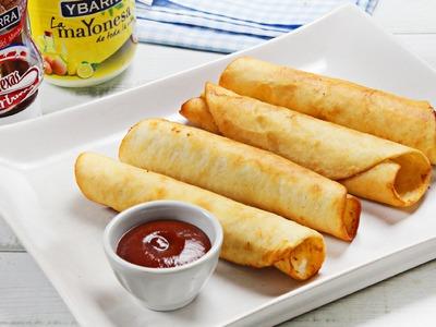 Flautas de jamón y queso Ybarra