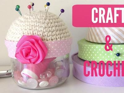 Frasco costurero a crochet Craft and Crochet