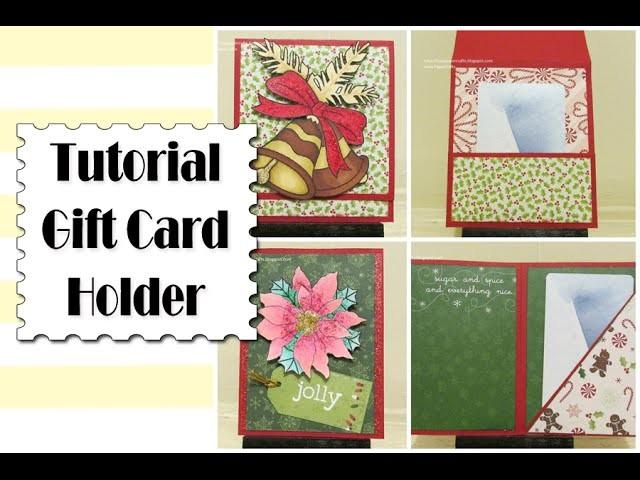 Ideas de Tarjetas Navideñas con Bolsillo | Tutorial DIY Gift Card Holder | Luisa PaperCrafts