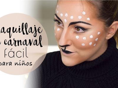 Maquillaje de carnaval fácil para niños