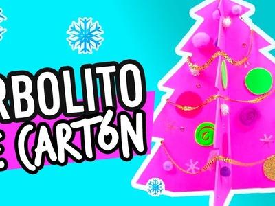 Mini Arbol de Navidad de Cartón | Adornos navideños | Manualidades para Niños | Catwalk