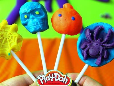 Paletas de Plastilina Halloween  Spooky Halloween Play Doh Popsicles