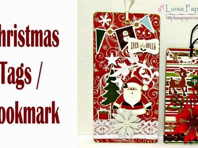 Punto de Libro para Navidad. Marcapáginas. Tag | Tutorial DIY | Luisa PaperCrafts