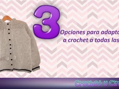 Adaptar ropa crochet a todas las tallas ☺ Opción 3 ¿Cómo guiarse de por una prenda de referencia?
