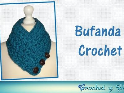Bufanda cuello tejida a crochet (ganchillo)