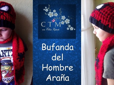 BUFANDA HOMBRE ARAÑA en crochet 1 de 2