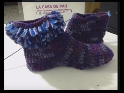 Calcetas tejidas a crochet