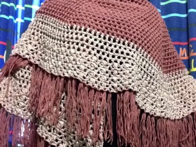 Capa o Chal tejida a Crochet en Circulo