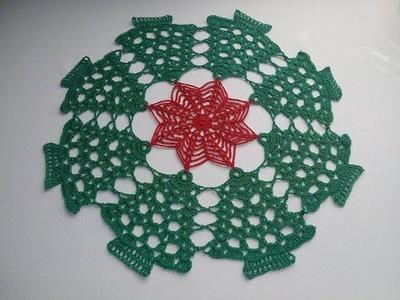 Carpeta Navideña a crochet