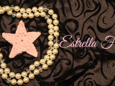 Como hacer una estrella facíl a crochet, gancho, y ganchillo