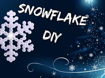 Copos de Nieve de Hama Beads Pixel Snowflakes ADORNOS DE NAVIDAD DIY