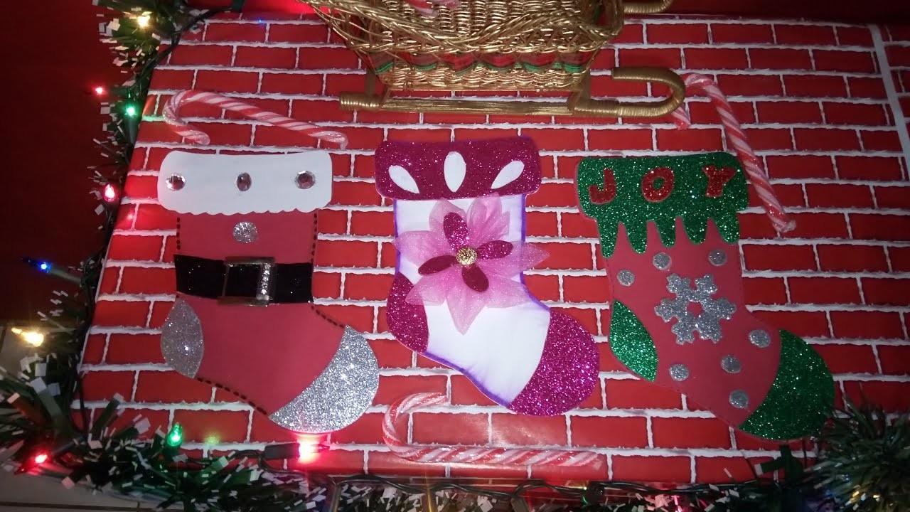 Diy Botas De Navidad En Foami O Goma Evamoldes Quitzia