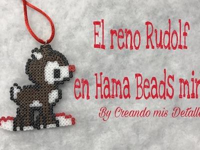 DIY El Reno Rudolf en Hama Beads Mini
