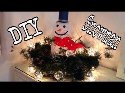 DIY Muñeco de Nieve Frosty, decoracion de Navidad