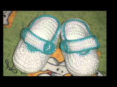 Faciles zapatitos tejidos a crochet