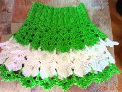 Faldas con volados a crochet