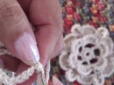 Flor Canela tejida a crochet