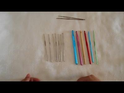 Ganchillos para crochet,  tipo y numeracion