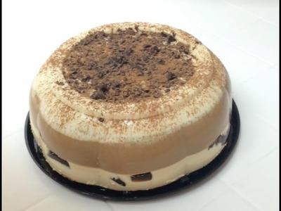 Gelatina de cafe con leche y galletas Maria