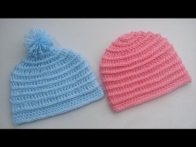 Gorrito para bebé 3 a 6 meses crochet