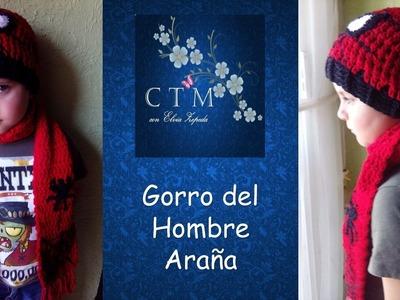 GORRO BEANIE HOMBRE ARAÑA en crochet 2de 2