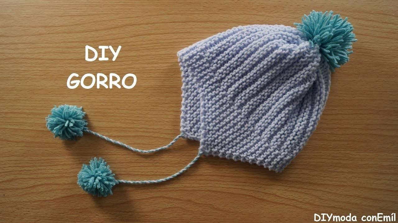 Gorro de beb a dos agujas paso a paso - Como hacer punto de lana paso a paso ...