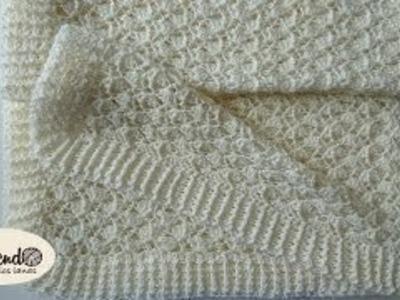 Manta Para Bebe - Tejido en crochet paso a paso -Parte 1