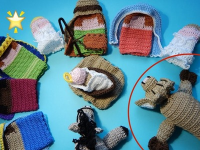 Nacimiento Tejido parte 7 Ganchillo, Crochet Nativity set DIY