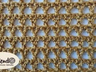 Punto tejido a crochet # 9 para bufandas y cobijas de bebe