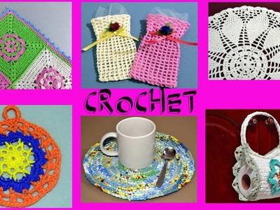 Resumen Hogar crochet año 2016 tutoriales paso a paso