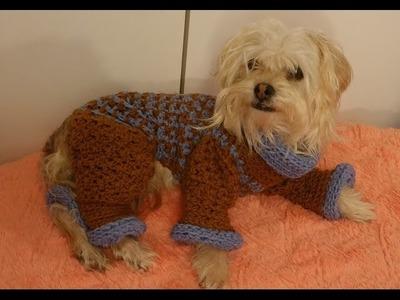 Sueter para perros a crochet.crochet dog sweater