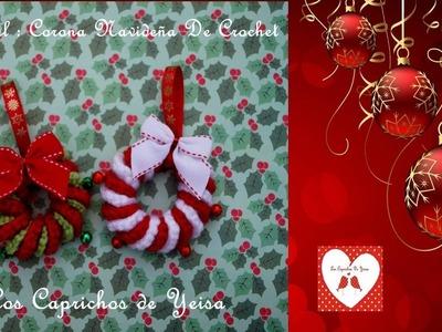 Tutorial : Corona Navideña de Crochet
