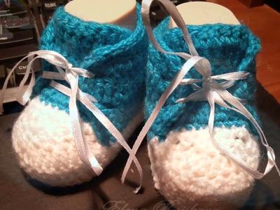 Zapatitos crochet bebe niño