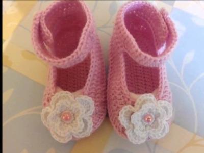 Zapatitos para bebe tejidos a crochet