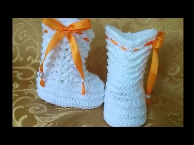 Zapatitos tejidos a crochet faciles