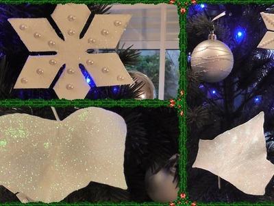 2 ideas de adornos de árbol de navidad. Fácil y económico DIY