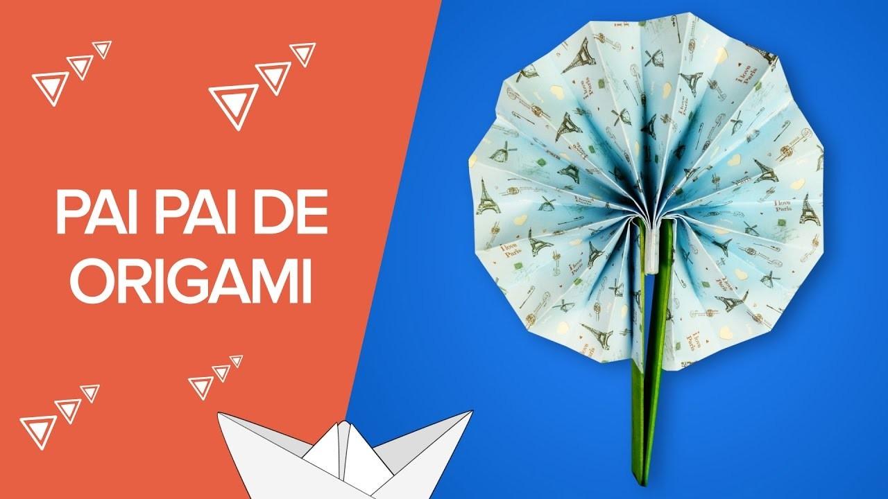 Cómo hacer un abanico pai pai de origami | Manualidades con papel