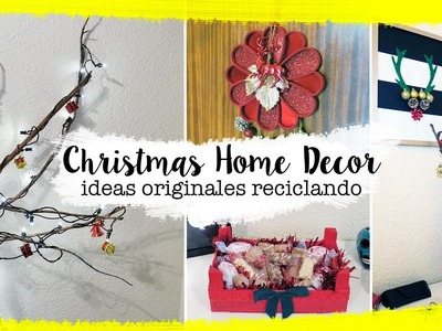 DIY christmas home decor · Ideas originales reciclando