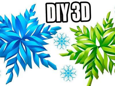 DIY COPOS DE NIEVE EN 3D, Aprende a como hacerlos! - DECORACION | Manualidades Ani Crafts