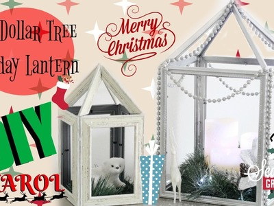 DIY Dollar Tree Holiday Lantern - Christmas Decorations- Diana Rodriguez - Collab