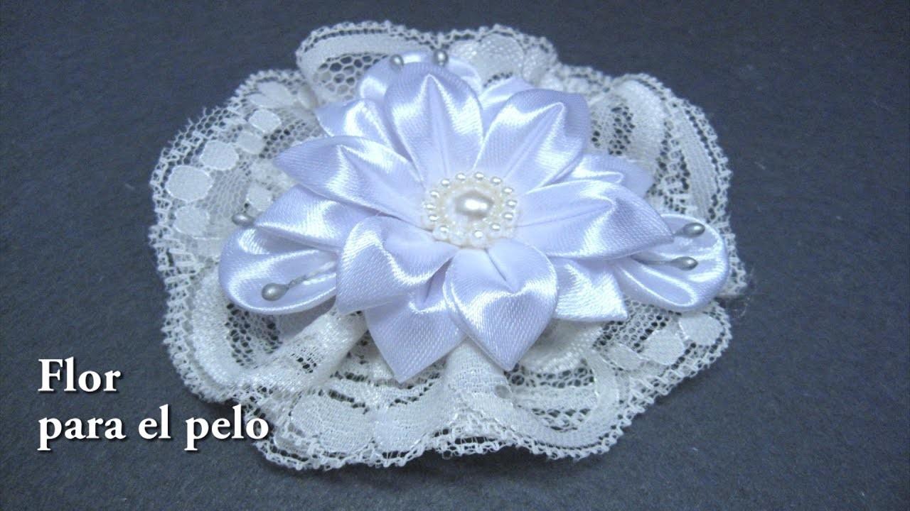 #DIY -Flor tocado para el pelo #DIY -Floral touched for hair
