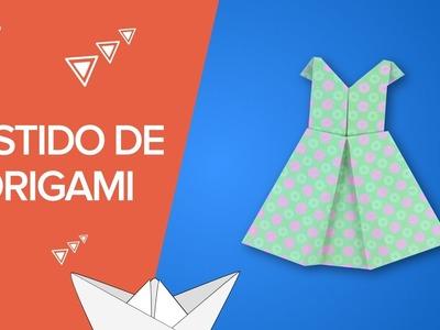 Vestido de origami paso a paso | Manualidades de papel