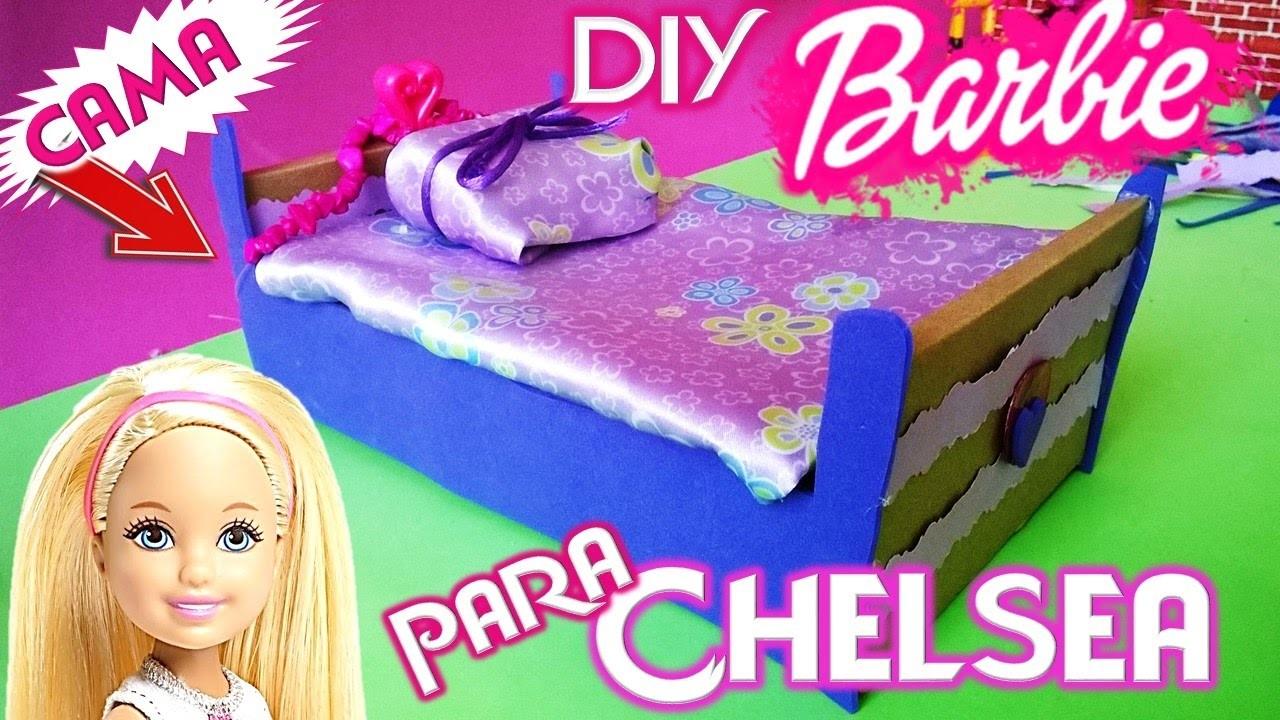 Babie diy como hacer una cama para barbie chelsea manualidades para mu ecas barbie recicladas - Hacer una cama abatible ...