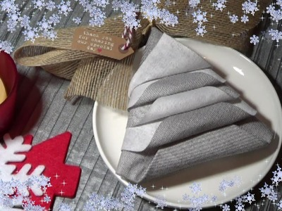 Como doblar Servilletas en forma de Arbol de Navidad ♡ Diy by FSandMe