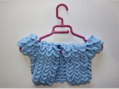 Como hacer bolero de escamas a crochet.