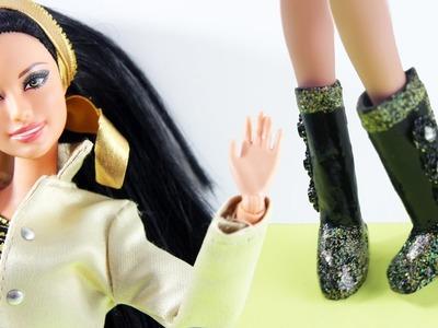 COMO HACER BOTAS CON SILICONA CALIENTE - Manualidades para muñecas
